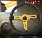 For Nissan Drifting 345mm 2 Deep Dish Expended Center Racing Steering Wheel Jdm