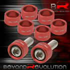 M8X125mm 9Pcs Exhaust Header Red Dress Up Kit Bolts For Universal Honda Acura