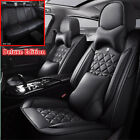 Luxury PU Leather Full Set Car Seat Cover Cushion 6D Surround For 5 Seats Car