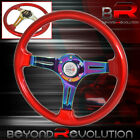 For Bmw 6 Bolt Hole Red Trim Neo Chrome Steering Wheel 3 Spokes Type R