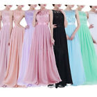 US Women Chiffon Bridesmaid Dress Formal Ball Long Evening party Dress Prom Gown