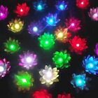 10pcs Lotus Floating Lantern Change Color Flameless Candles LED Light Pool Decor