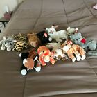 Ty Beanie Babies cats bulk lot Chip Stripes Roary Snip Silver Amber Scat +more
