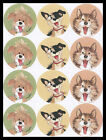 124 SS Animal Stickers DOG PUPPY SUZYS ZOO WAGS AND WHISKERS Suzy Spafford
