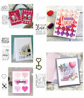 Robot Love Heart Clear Stamps With Metal Cutting Dies Stencil DIY Scrapbooking