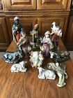 Vtg Large 1950s Nativity Set Composite Figure Stamped Japan Hand Painted