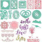 Love Heart Frame Words House Metal Cutting Dies for DIY Scrapbooking Paper Craft