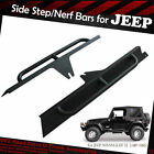 Black Textured Step Boards Nerf Bars For 1987 1995 JEEP WRANGLER YJ Side Armor