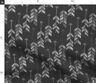 Watercolor Tribal Weapon Flying Chevron Native Fabric Printed by Spoonflower BTY