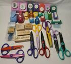 Lot of 32 Paper Punches Scissors Stamps Embossers Shapes Holiday Scrapbooking
