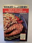 Vintage 1988 Weight Watchers Quick Success Cookbook With Jacket