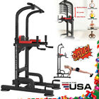 Adjustable Pull Up Dip Station Gym Bar Power Tower Chin Up Training Equipment