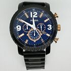 Fossil BQ2011 Men's 50mm NATE Blue Dial Chronograph Quartz watch lightly worn
