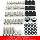 For BMW K1300R 2009-2015 Stainless Steel Complete Fairing Fasteners Bolts Kit