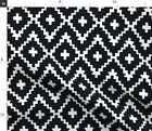 Trend Black And White Southwest Native Fabric Printed by Spoonflower BTY