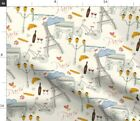 Paris France Eiffel Tower Travel Tourist Fabric Printed by Spoonflower BTY