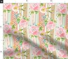 Boho Print Clash Tribal Native Flowers Pattern Fabric Printed by Spoonflower BTY