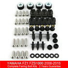 Complete Fairing Body Fastener Bolts Kit For Yamaha FZ1 FZS1000 Fazer 2008-2016