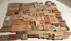 LOT 90+ Mixed Wood Mounted Rubber Stamps Stamping Scrapbooking Supplies