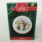 Hallmark Ornament Let It Snow! Snow Collectors Plate Stand Porcelain QX436-9