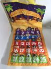 Rare Fisher Price Little People Fabric Advent Calendar Christmas Nativ