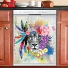 Beautiful Country Decor Kitchen Dishwasher Cover Magnet Native Lion