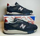 New Balance 998 M998JC1 J Crew X Navy Suede Sneakers Men Made In USA SZ 11 US