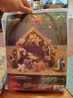 NEW Bucilla 85263 NATIVITY SET Felt Home Decor Craft Kit Plaid Sealed 2005