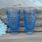 Fostoria American Whitehall Ice Blue Indiana Glass Footed Tumbler Cube Goblet