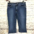 Vintage Dolce And Gabbana Capri Cropped Blue Jeans Womens Size 31