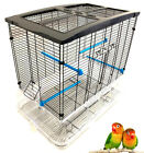 LARGE Sparkle Clear Bird Cage Aviary Canary Finches Parakeet Cockatiel LoveBirds