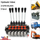 6 Bank Hydraulic Monoblock Directional Valve 21 GPM 80L min for Dumps Tractors