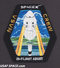 NEW SPACEX NASA CREW Dragon IN FLIGHT ABORT TEST IFA ORIGINAL Mission PATCH
