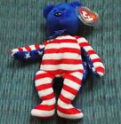 TY Beanie Baby - LIBERTY the Bear (Blue Head Version)  - NWMT.  NEXT DAY SHIP!
