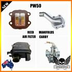 Intake Reed Valve Manifold Carby + Air Filter Yamaha PW 50 peewee 50 PY 50CC KID