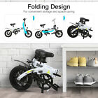 Folding Electric Bike Collapsible Moped Bicycle Outdoor Riding Cycling LED Light