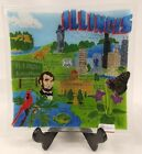 Peggy Karr Illinois State Fused Glass Art Plate Retired Limited Edition Signed
