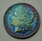 1896 P RARE KEY DATE Morgan Dollar Silver Coin  Toned US Coin No Reserve