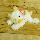 TY Beanie Babies Saffron Cat 2005 Retired Yellow White