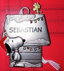 Snoopy and Woodstock Hallmark Pewter Ornament Peanuts Personalized SEBASTIAN New