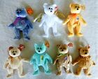 2000 TY Beanie Babies Lot of 7 Halo Sunny Huggy Ariel Speckles Cashew Periwinkle