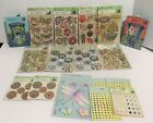 K  Company Gems Stickers Chipboard Embellishments Lot of 17