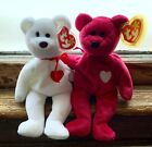 TY Beanie Babies Set 1993 Valentino and 1998 Valentina MINT retired Brown Nose
