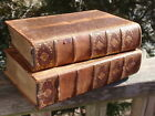 2 ANTIQUE LEATHER BOUND BOOKS POETICAL WORKS 1899 TENNYSON SHAKESPEARE 1906