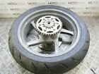 Ducati Supersport 1000 DS 2005 rear wheel rim with tyre sprocket and rotor