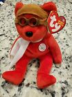Ty Beanie Baby BEARON - the Bear (100 Years Of Flight), Red Version
