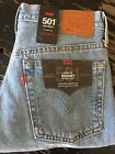 Levis 501 Premium Womens Skinny High Rise Button Fly Ripped Jeans Size 26X28