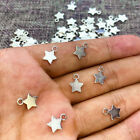 10 pieces New TINY SOLID SILVER STAR Charm Metal Alloy 10 x 8 mm FREE SHIPPING