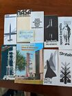 Vintage NASA TOURS LOT Kennedy Space Center Tour Ticket and 9 brochures