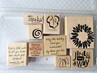 Stampin Up 2001 Sketch It 8 wooden mounted stampers